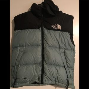 North face puffer vest with hood